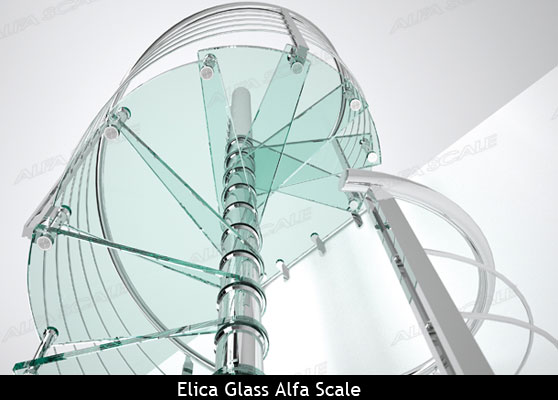 Glass staircase by Alfa Scale